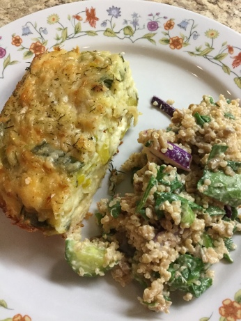We served our Leek & Feta Pie with Quinoa Salad